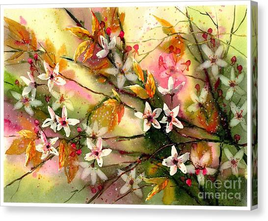 Wind Farms Canvas Print - Blooming Magical Gardens II by Suzann's Art