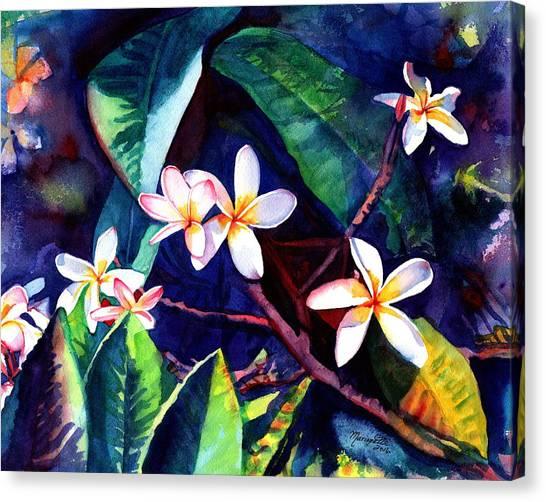 Blooming Plumeria Canvas Print