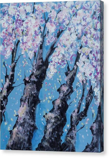 Blooming Trees Canvas Print