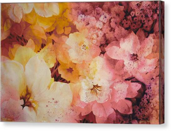 Blooms-of-summer Canvas Print by Nancy Newman