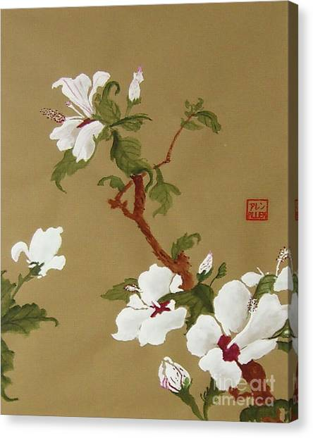 Blossoms - Chinese Watercolor Painting Canvas Print
