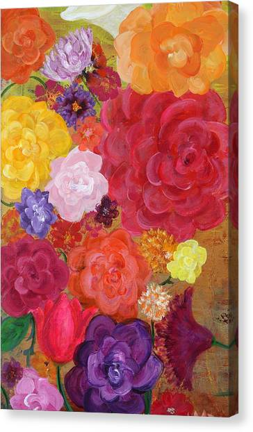 Blossoms By The Sea Detail Canvas Print by Sabra Chili