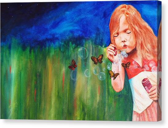 Blowing Butterflies Canvas Print by Ned M Stacey Sr
