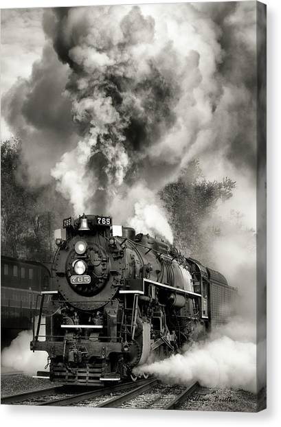Blowing Its Stack Canvas Print