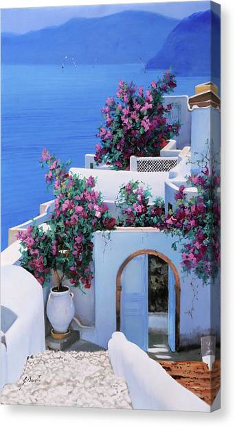 Greece Canvas Print - Blu Di Grecia by Guido Borelli