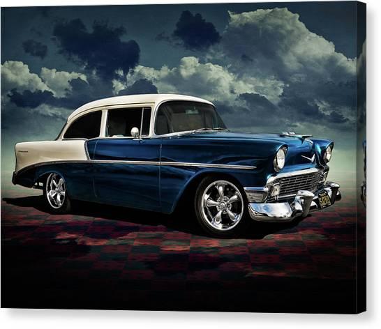 Chevy Canvas Print - Blue '56 by Douglas Pittman