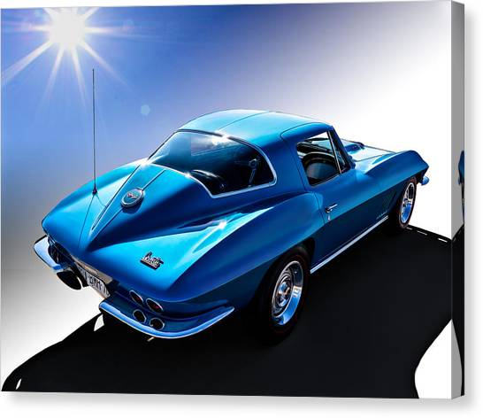 Chevy Canvas Print - Blue '67  by Douglas Pittman