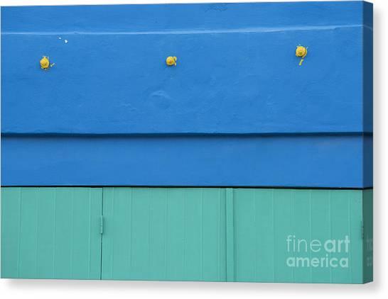 Architectural Detail Canvas Print - Blue Architectural Detail by Juli Scalzi