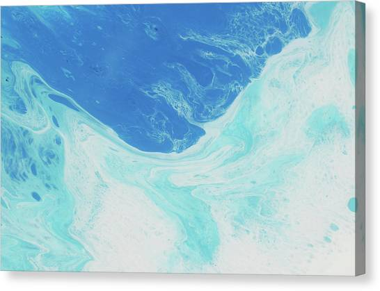 Fluids Canvas Print - Blue Abyss by Nikki Marie Smith