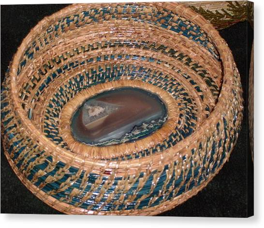 Blue Agate Basket Canvas Print by Russell  Barton