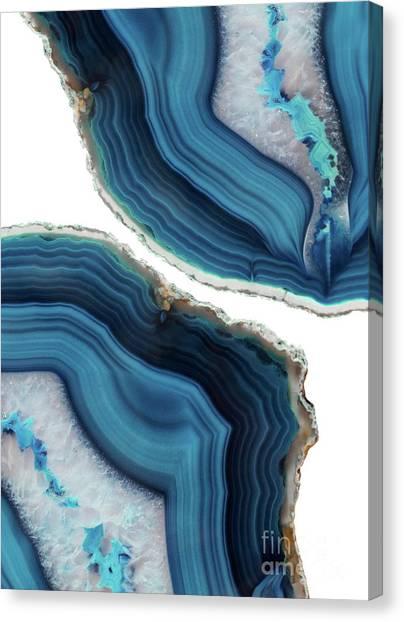 Blue Agate Canvas Print