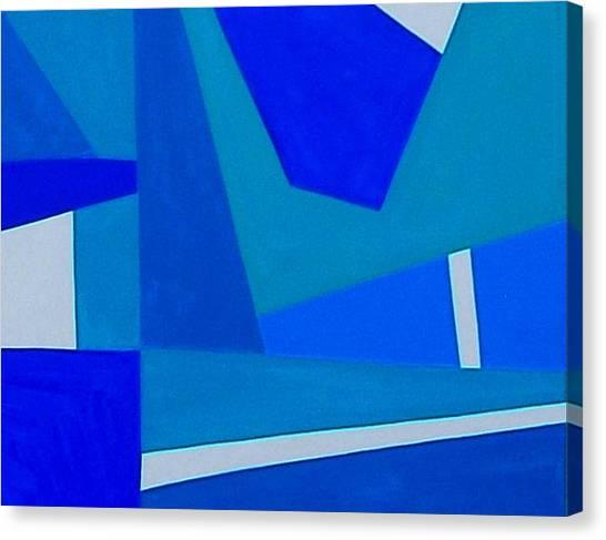 Blue Alert Detail 1 Canvas Print