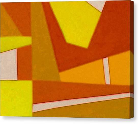 Blue Alert Detail 3 Canvas Print