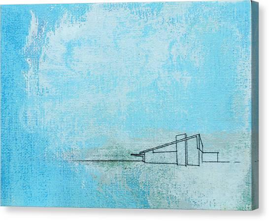 Blue Alexander White Mist Canvas Print