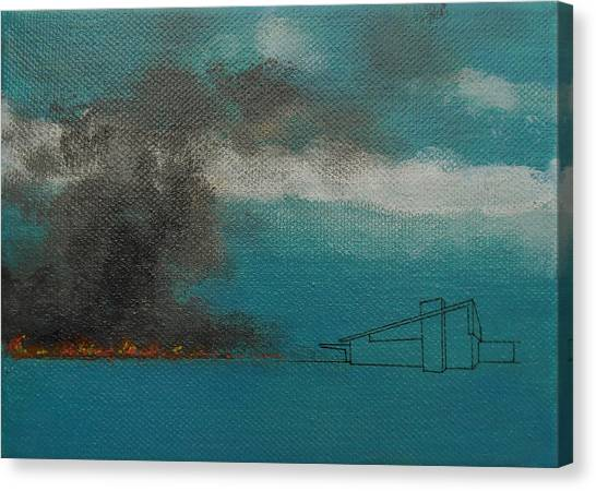 Blue Alexander With Brush Fire Canvas Print
