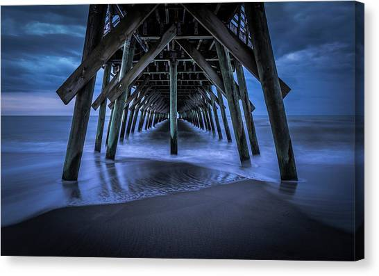 Blue And Gray Canvas Print