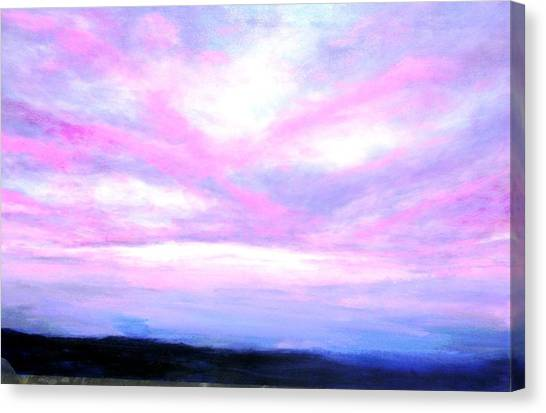 Blue And Pink Sky Canvas Print