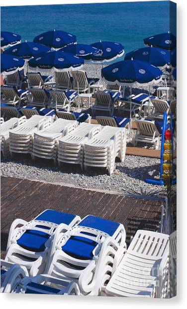 Blue And White Canvas Print by Andrea Simon