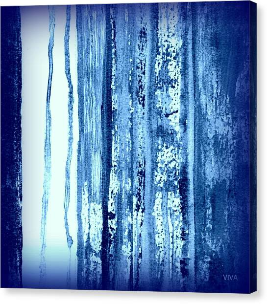 Blue And White Rainy Day Canvas Print