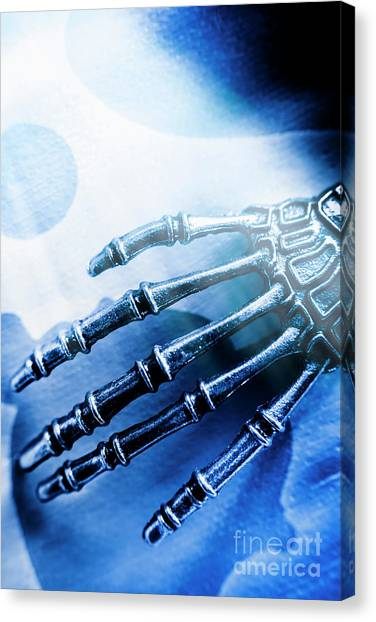 Scientific Canvas Print - Blue Android Hand by Jorgo Photography - Wall Art Gallery