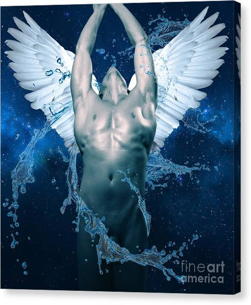 Bodybuilder Canvas Print - Blue Angel  by Mark Ashkenazi