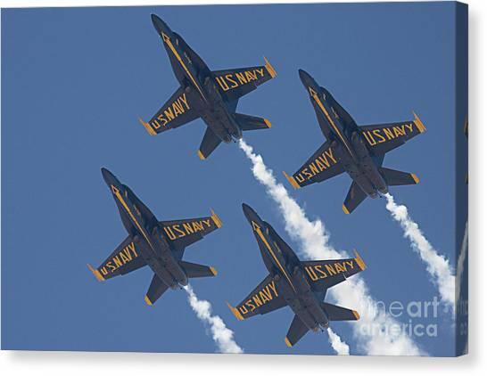 Blue Angels Blue Skies Canvas Print