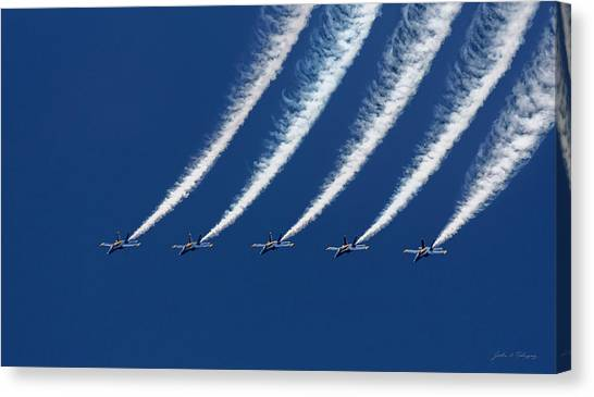 Blue Angels Formation Canvas Print
