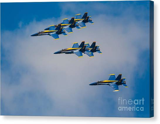 Aviators Canvas Print - Blue Angels by Inge Johnsson