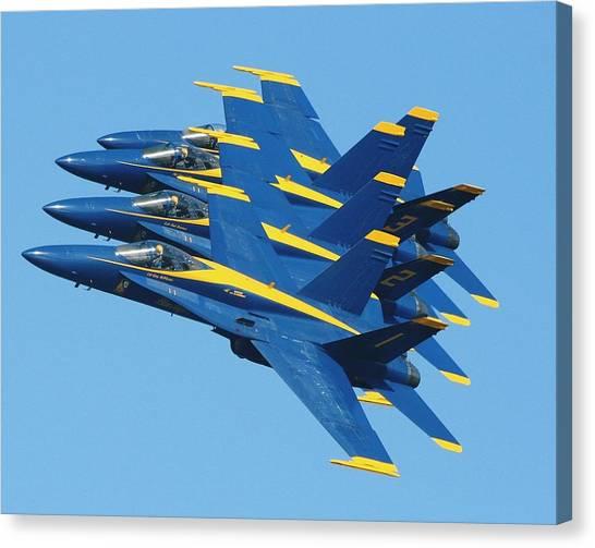 Blue Angels Canvas Print by Melanie Beasley