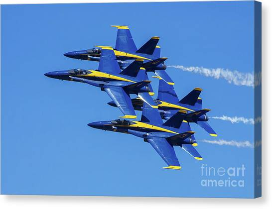 Blue Angels Very Close Formation 1 Canvas Print