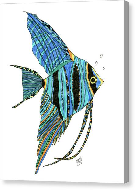 Blue Anglefish Canvas Print