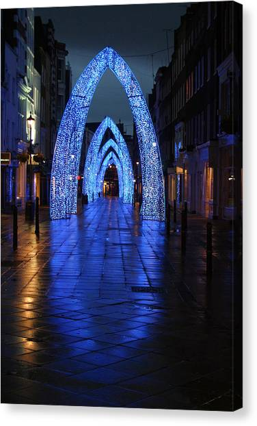 Blue Arch Canvas Print by Jez C Self