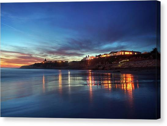 Canvas Print featuring the photograph Blue As In Wonder, Not Melancholy by Quality HDR Photography
