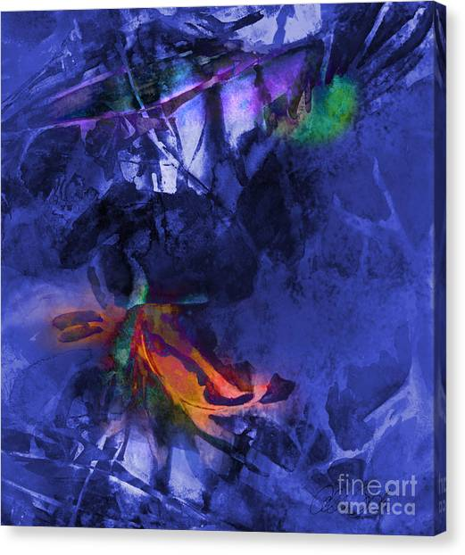 Blue Avatar Abstract Canvas Print