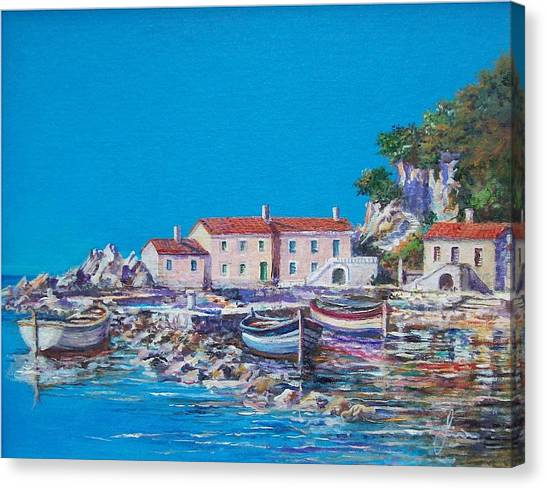 Blue Bay Canvas Print