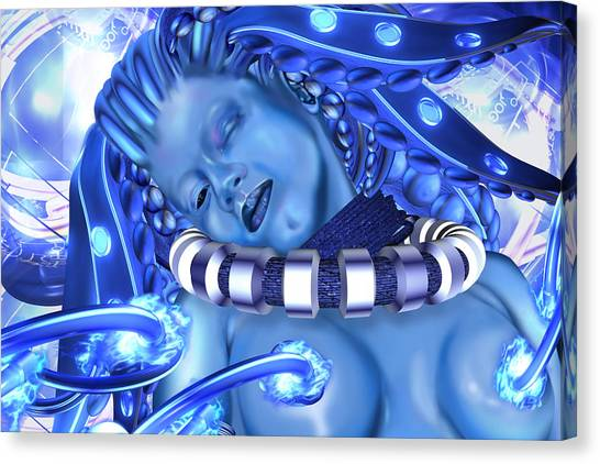 Blue Beauty 2 Canvas Print by Claude-Robert Policart