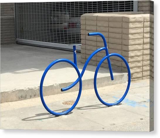 Venice Beach Canvas Print - Blue Bicycle by Nancy Merkle