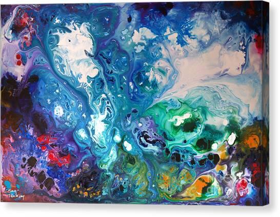 Blue Billows Canvas Print