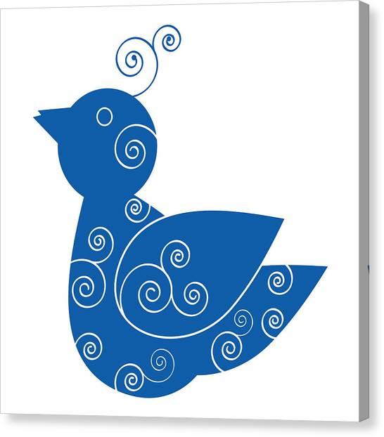 Blue Bird Canvas Print by Frank Tschakert
