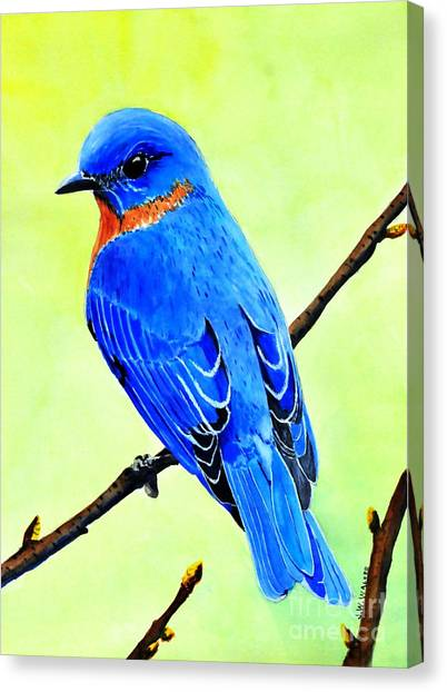 Blue Bird King Canvas Print