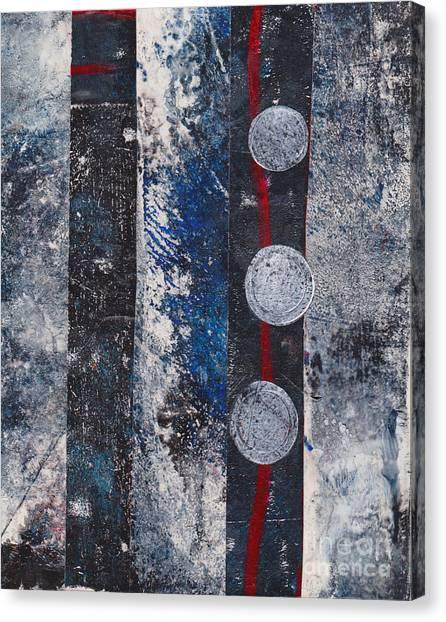 Blue Black Collage Canvas Print