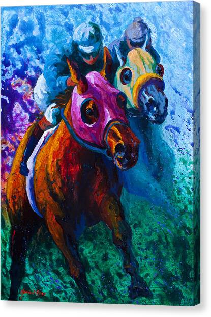 Equestrian Canvas Print - Blue Bloods by Marion Rose