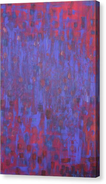 Blue Blue I Love You. Canvas Print by Tricia lee Kelshall