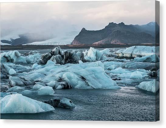 Vatnajokull Glacier Canvas Print - Blue Blue Lagoon by Alisha Anderson