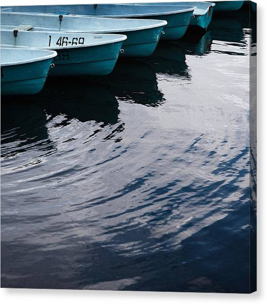 Blue Boat Canvas Print