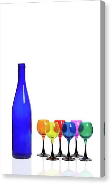 Blue Bottle #2429 Canvas Print