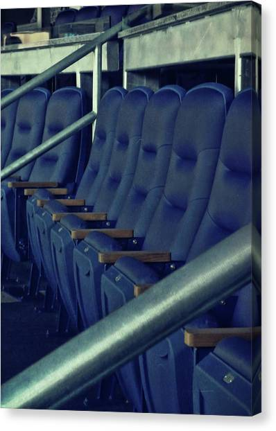 Blue Box Seats Canvas Print by JAMART Photography