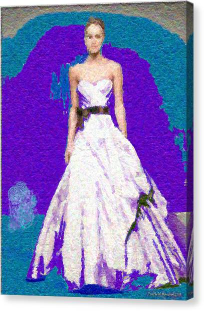 Blue Bride Canvas Print by Penfield Hondros