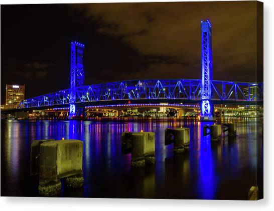 Blue Bridge 1 Canvas Print
