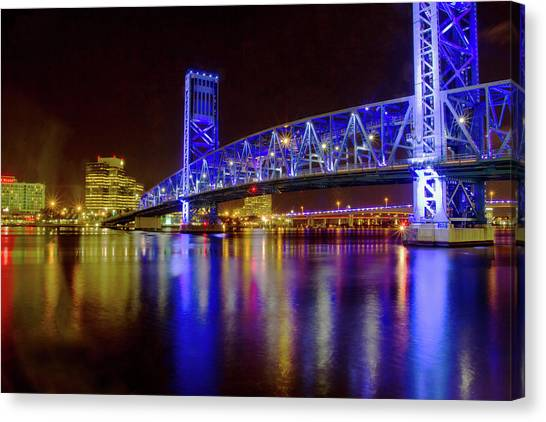 Blue Bridge 2 Canvas Print